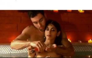 Indian babe and her handsome man are passionately
