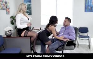MYLFDom – Teen Coerced into Rough Threesome With Milf.