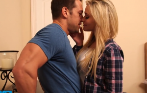 Mia Malkova fucking in the bedroom with her natural tits