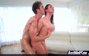 (Angela White) Horny Girl With Big Ass Get Oiled And Anal Nailed clip-05.