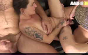 AMATEUR EURO – German Hot Matures Adrienne Kiss And Erna Shares Cock And Play With Dildo In Hot FFM Sex.mp4
