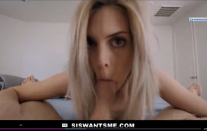Blonde Teen Step Sister And Her Step Brother Morning Hangover Fucking POV