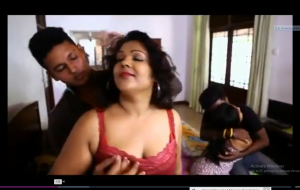 Hot desi bgrade foursome – boob squeeze and dry humpin