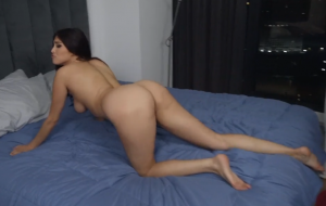 Girl fucked hard from behind and in face till cumshot