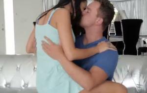 Kenzie Taylor & stepson gf Sofi Ryan take turns on dick