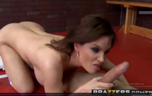 Big Tits at School – (Dirty PE milf Diamond Foxxx) gives her students the ass.