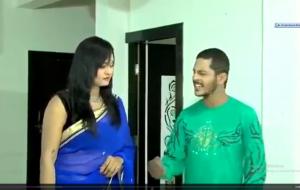 Beautiful Bhabhi in saree doing hot sex.