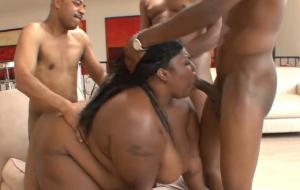 Black Bulls Share A Horny Ebony Bbw