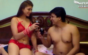 Honeymoon Screw For Indian Wife In Hot Lingerie