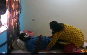Sexy Desi Indian Bhabhi Shanaya Riding On Her Husband Big Meaty Cock And Taking Cumshot Inside Pussy.
