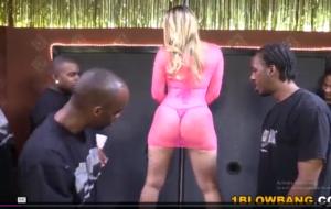 AJ Applegate Sucks And Fucks Black Dicks