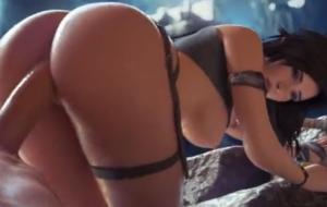 Sexy girl Hard sex 3D