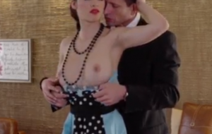 pinup Brunette Seduces Lover With Her Classy Clothes