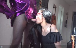 Desi Teen Deepthroat Blowjob Taking Cum On Her Hairs