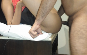 Married Desi Indian girl Shows her pussy to a young boy