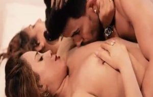 Horny college girl sharing boy for threesome