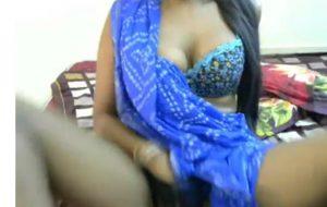 Lusty Indian slut showing her big boobs