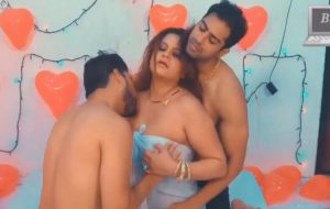 Big boobs aunty enjoying threesome sex