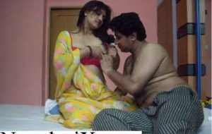 Taste of Indian boobs of sexy young maid
